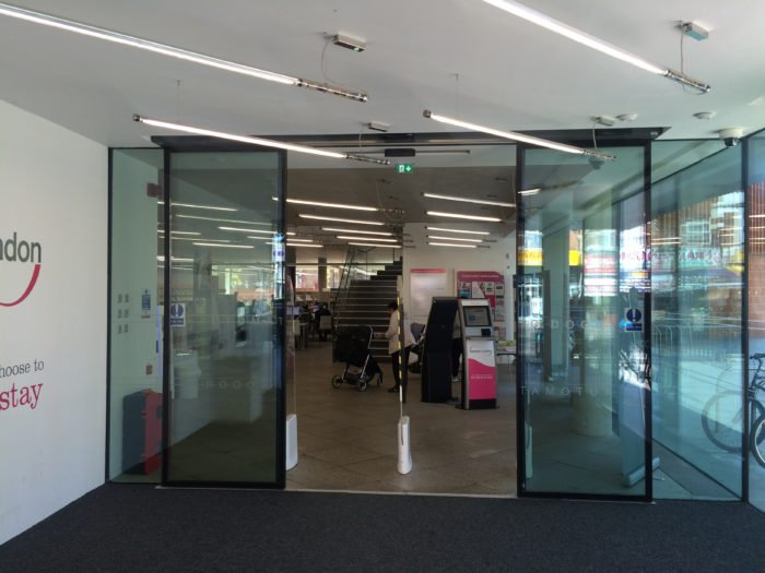 Entrance to East Ham Library