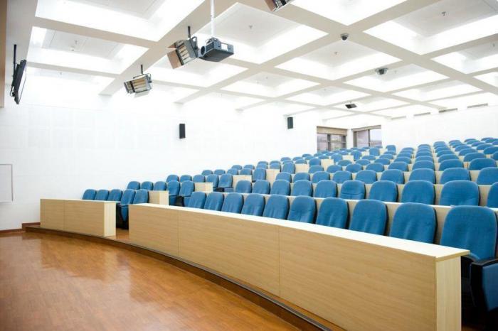 Empty university lecture theatre